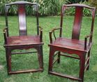 Pair of antique hardwood chairs