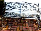 Cast iron twig bench