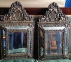 Pair of fancy Dutch mirrors