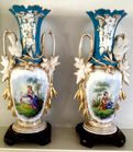 Large pair of porcelain vases