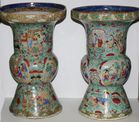 Pr. Chinese export baluster vases