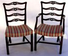2 of set of 6 quality ribbonback chairs