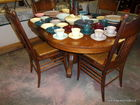 beautiful oak table and chairs