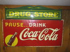 COKE  AND DRUG STORE SIGN