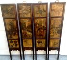 Painted marble Asian screen