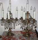 Pr. fancy candelabra with prisms