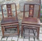 Pair of cvd and dec Asian chairs