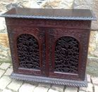 Asian carved cabinet
