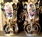 Large pr. French porcelain vases