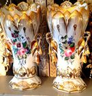 Pr. French porcelain vases
