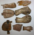 Antique carved hands