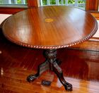 Inlaid center table