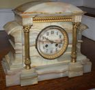 Onyx clock A. Stowell Made in France