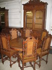 Belgium Oak Dining Suit- Heavy Carved