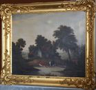 Oil on landscape with cows