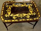 Lacquered tray top table