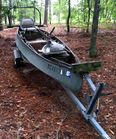 15 ft Gheenoe boat, galv trailer
