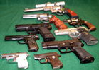 A few of over 60 pistols to be sold!