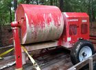 Gas powered cement mixer