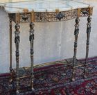 Figural console with matching mirror