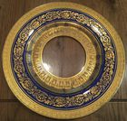 12 Cobalt and gold glass plates