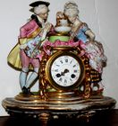Signed Paris figural clock