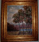 Impressionist landscape with trees