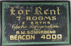 Early advertising painted tin sign