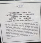 Civil War Confederate letters 1861