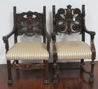 Carved Oak Fancy Chairs