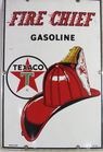 Texaco Gas pump enamel sign