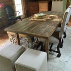 Rectangle farm table