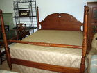 Cherry king size bed