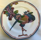 12 Oriental style peacock plates