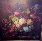 Antique square still life painting