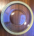 Gold rim glass plates