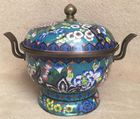 Cloisonne centerpot with cover