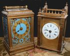 2 nice brass carriage clocks