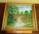 SIGNED FOLK ART PAINTING ON BOARD