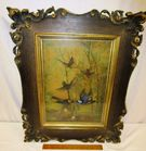 c.1890-1920 Hummingbirds Framed in Oak
