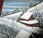 """Snow Around the Barns"" Original 1989"