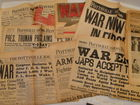 WWII Newspapers War Begins & Ends