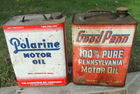 Polarine & Good Penn Oil Cans
