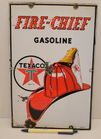 Vintage 3-4-47 Porcelain Fire-Chief Sign