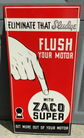 "Zaco Super 11"" X 24"" Metal Sign"