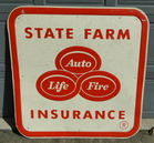 "State Farm Metal Sign 47 1/2"" Square"