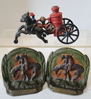 Cast Fire Wagon, End Trail Bookends