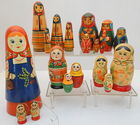 USSR Nesting Dolls, Many Pieces