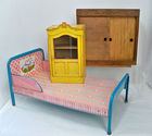 Marx Tin Litho Bed, Cupboard