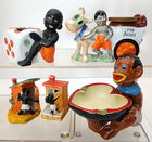 Black Americana Ashtrays